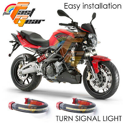 For Honda VTR1000F / FIRESTORM 1998-2005 Front Fork LED Turn Running Lights