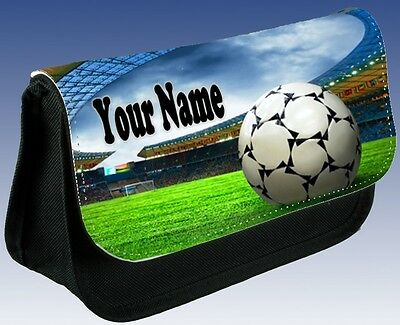 Personalised BOYS KIDS GIRLS Football Stadium School Pencil Case Small Bag Gift!