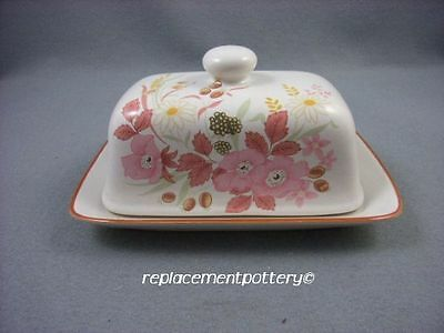 Boots Hedge Rose butter / cheese dish.