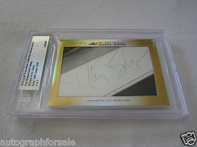Ray Bolger Jack Haley 2014 Leaf Masterpiece Cut Signature 1/1 auto Wizard of Oz