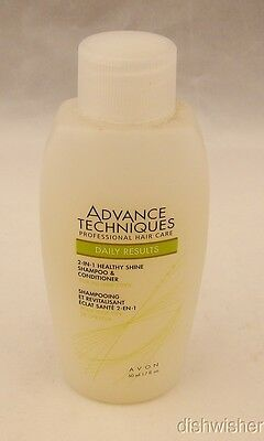 Avon ADVANCE TECHNIQUES Lot of 2: Healthy Shine Shampoo & Conditioner 1.7 oz NEW