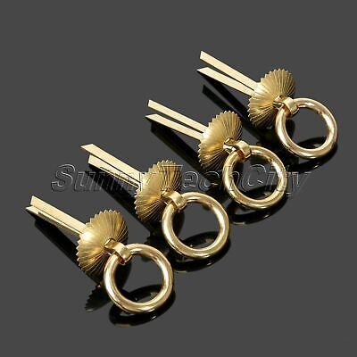 Vintage Retro 4Pcs Brass Drawer Pull Handle Rings for Furniture Hardware Handles