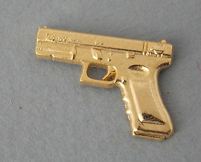 Glock Pistol Lapel Badge Gold Plated 22Mm Social Item Only