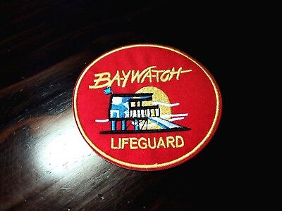 New Red Baywatch Lifeguard Embroidered Cloth Patch Applique Badge Iron Sew On