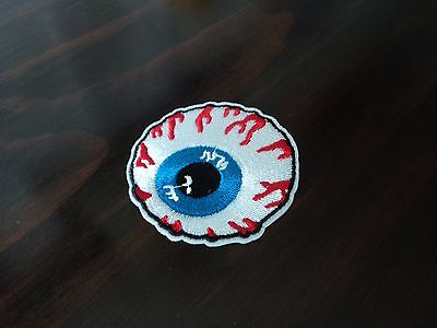 New Eyeball Eye Hippie Punk Embroidered Cloth Patch Applique Badge Iron Sew On