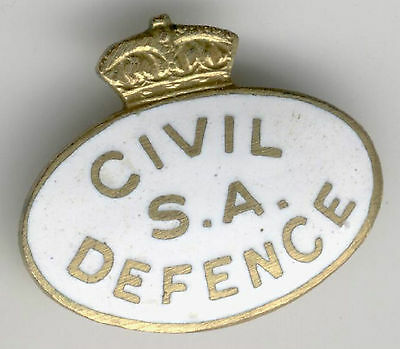 Civil Defence Badge South  Australia  For Jacket / Coat   Ww2