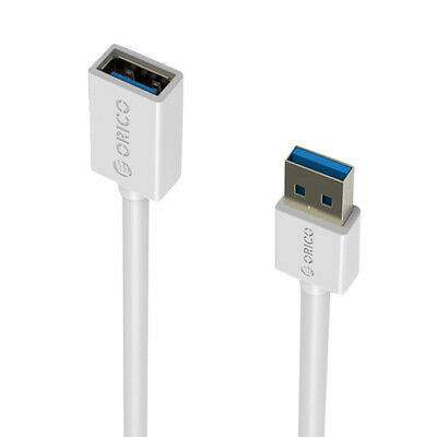 ORICO USB 3.0 Male to Female Extension Charging Data Cable 3.3 Ft / 100cm White