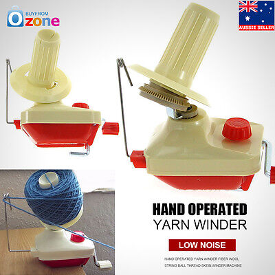 Hand Operated Yarn Winder Fiber Wool String Ball Thread Skein Winder Machine NEW