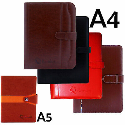 PU Leather Document Bag Notebook File Folder Portfolio Business Office School