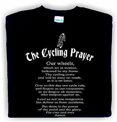 mans funny t-shirt Cycling Prayer birthday gift cyclist bike present famousfx