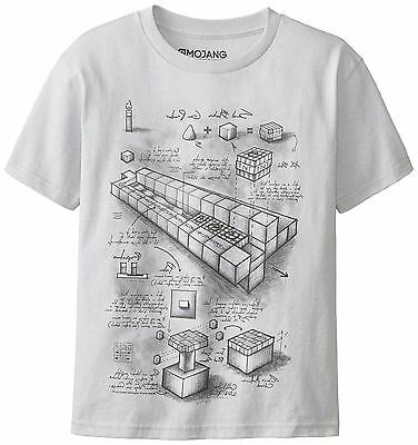 MINECRAFT Official TNT BLUEPRINT Style Mine Craft Characters T-Shirt
