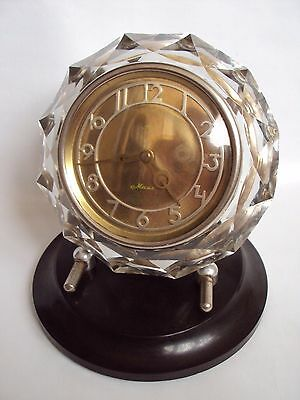 Vintage Soviet Table Watches MAYAK MAIAK Crystal  USSR 1960 s