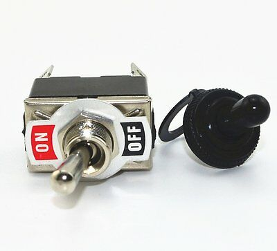 New Black 4Pin ON-OFF Toggle Switch Switches w Waterproof cap