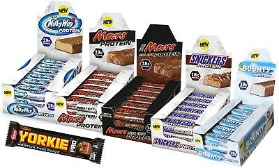 SNICKERS PROTEIN BARS 51g x 18 -  BOUNTY MILKY WAY MARS PROTEIN BAR HIGH QUALITY