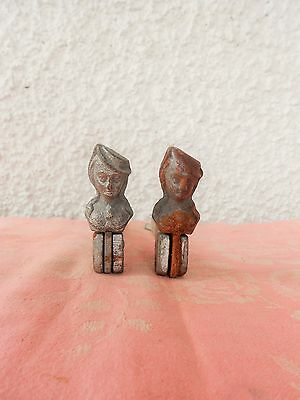 PAIR OF ANTIQUE/ORIGINAL FRENCH  IRON FORGED WINDOW SHUTTER STOPPER 19th.