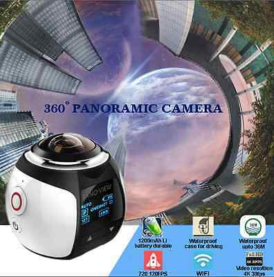4K 360°Mini Panoramic Camera HD VR 2440P WI-FI Waterproof Sports Action Video