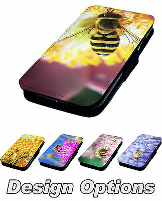 Real Bee Designs Printed Faux Leather Flip Phone Cover Case