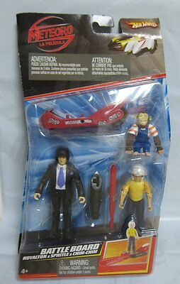 Speed Racer Toy Figures Vehicles Battle Board Royalton & Spritle & Chim-Chim