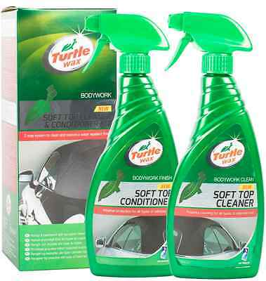 Turtle Wax Soft Top & Conditioner Kit Cabriolet Convertible  Fabric Hood Cleaner