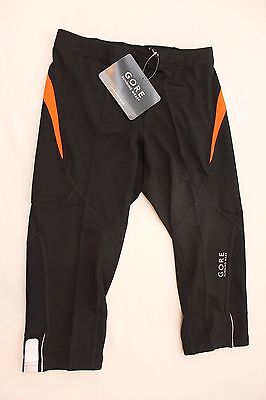 New Gore Men's Essential 3/4 Cycling Bike Black Tights Large Running NWT $80