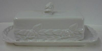 Christian Dior FRENCH COUNTRY ROSE (WHITE) Butter Dish with Lid