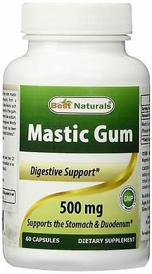 Mastic Gum 500 mg 60 Capsules by Best Naturals Supports stomach health NEW