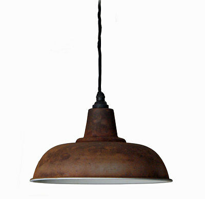 Vintage retro style ceiling pendant light shade antique iron