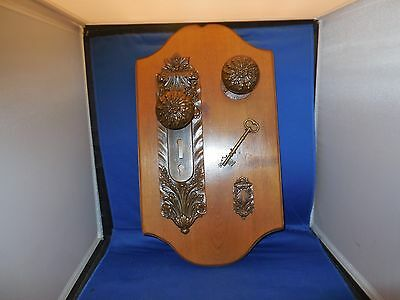 Original Display of  Vintage Front Door Hardware