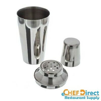 NEW 28 oz Stainless Steel Three Piece Bar Cocktail Mixer