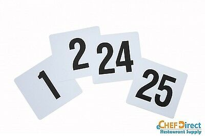 "4"" X 4""  Plastics Table Numbers 1-25 - Free Shipping!!!"