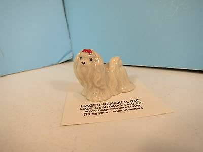 HAGEN RENAKER Maltese Ceramic Dog Figurine-New On Card