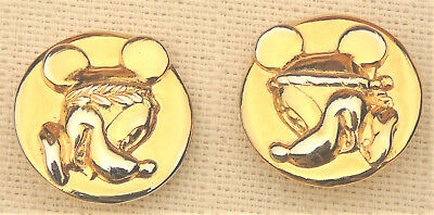 Gold color Minnie Mouse clip earrings by Wendy Bell