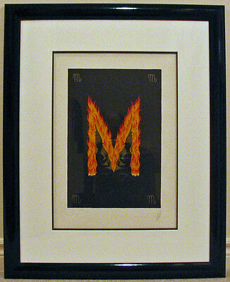 ERTE Signed MARQUETRY Version of Alphabet M