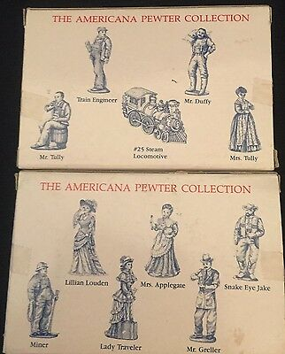 1993 Liberty Falls Americana Pewter Collection Figurines, AH30 and AH31