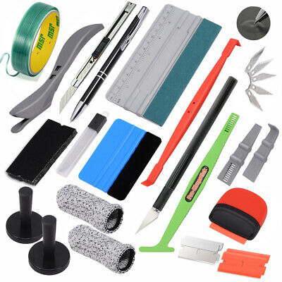 8PCS Car Window Film Tinting & Wrapping Installation Tools Kit Vinyl Squeegee AU