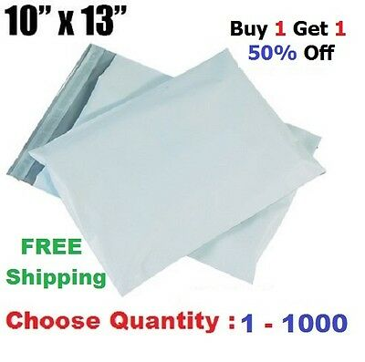 B1G1 50% OFF 10x13 Poly Mailers Shipping Envelopes Plastic Mailing Bags 1 - 1000