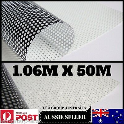 1.06M X 50M White One Way Vision Printable Vinyl Film Tint Car Vehicle Window