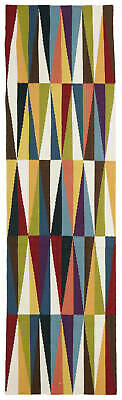 80x300 Runner Flatweave Wool Floor Rug GYPSY Modern Multicolour Matrix NM33M