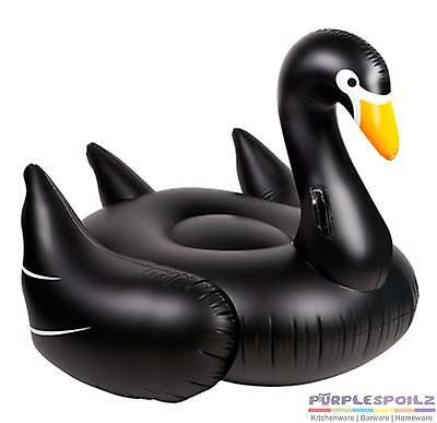 NEW SUNNYLIFE INFLATABLE BLACK SWAN Pool Beach Swimming Toy Blowup Float Floatie