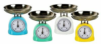 NEW ACCURA IRIS 5KG MECHANICAL KITCHEN SCALE Scales Dial Platform Retro Food