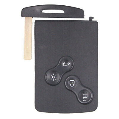 Remote Key Fob 4 Button 433Mhz PCF7941 for Renault Megane 2009-2014 Uncut