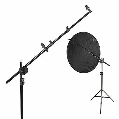 Photography Studio Light Stand, Reflector Boom Arm Holder & Lock Nut Set
