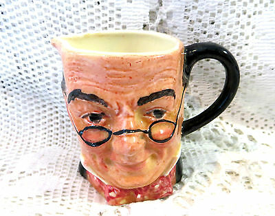 Vintage Sandland Small Character Jug Mr Pickwick From Dickens Made In England