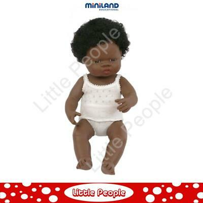 Miniland Educational Baby Doll African Girl  38 cm suitable for therapy