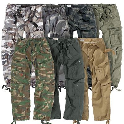 Surplus Airborne Military Cargo Trousers Mens Army Vintage Combat Workwear Pants