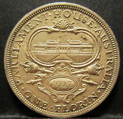 1927 Australia Canberra Florin ** 8 PEARLS + CD ** #SF27C-32 =HIGH GRADE=