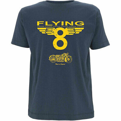 Oily Rag Clothing Flying 8 Motorcycle Casual T-Shirt - Blue