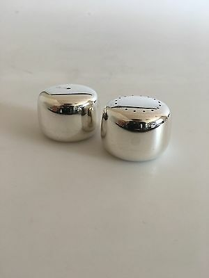 Georg Jensen Henning Koppel Salt and Pepper Shakers in Sterling Silver No 1135