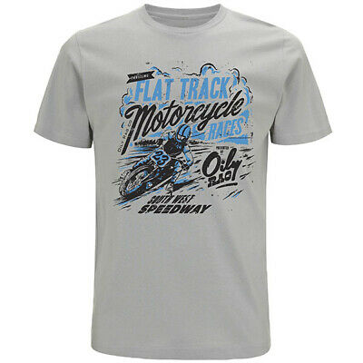 Oily Rag Clothing Casual Motorcycle Flat Tracker T-Shirt - Grey
