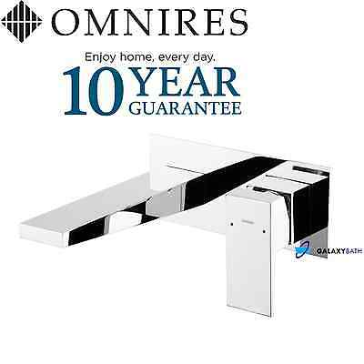 Omnires Concealed Flush Wall Mounted Basin Bath Sink Mixer Tap Modern Chrome